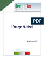 Sintesi Piano e-Gov
