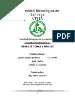 Obras de Tomas y Túneles