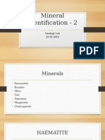 Identification of Minerals 25-03-2015
