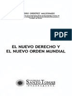 Ordóñez Maldonado, Alejandro - El Nuevo Derecho y El Nuevo Orden Mundial (Scan)