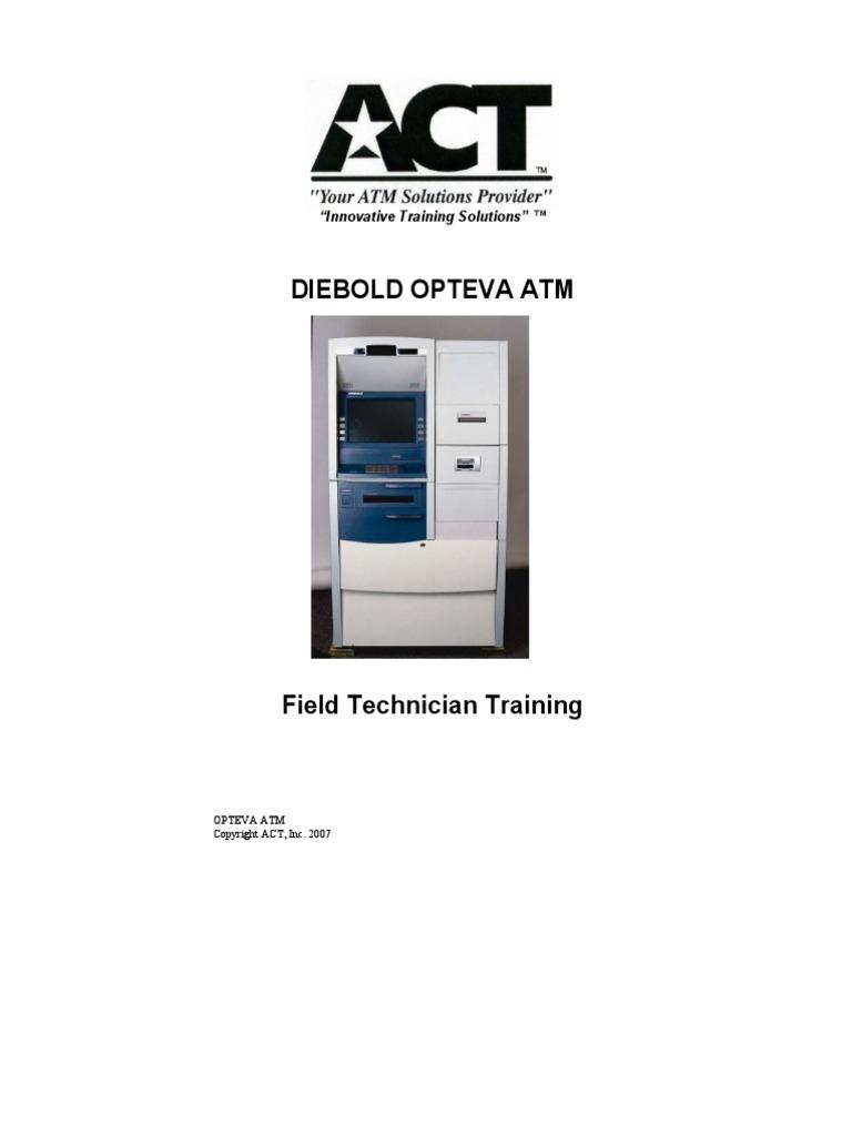 банкомат diebold opteva 520 инструкция по загрузке