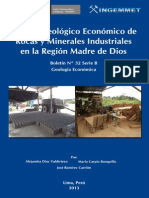 Estudio Geológico y Económico de Rocas y Minerales Industriales en Madre de Dios