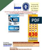 RETROSPECTO HIPODROMO DE VALENCIA VIERNES 10 DE ABRIL DE 2015