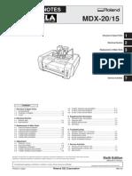 Roland MODELA MDX-15 MDX-20 Service Notes Manual [Sm,Pm,CD] 200512 1 Qmanual.com