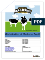 Globalization of markets - Ben & Jerry's