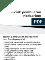 Teknik Pembuatan Herbarium