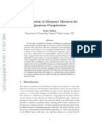 An Extension of Gleason's Theorem for Quantum Computation