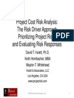 Project Cost Risk Analysis and Risk Prioritizaton Using the Risk Driver Method
