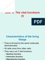 Unit 8 the Vital Functions (I)
