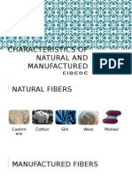 characteristics of natural and manufactured fibers
