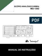 Manual Osciloscópio Analógico 60MHz MO-1262 - MINIPA