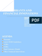 Warrants, ADR, GDR, Innovative Financial Products