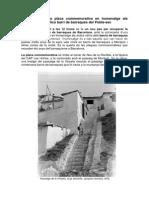 Col·locació de la placa commemorativa Barraques del Poble-sec