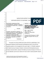 Netscape Communications Corporation et al v. Federal Insurance Company et al - Document No. 37