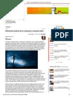 Adital - Dimensión Política de La Cuaresma y Semana Santa