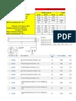 Tabla de Datos de Lamparas Fluorescentes