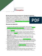 Normas de Redaccion de La Revista Energetica