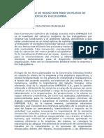 Ejemplo Pliego de Peticiones Sindicales