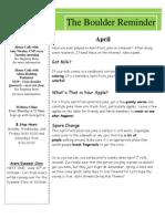2015 - April Newsletter