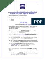 Zeiss Rapid Z Balistic Calc Instructions