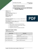 Tech Spec-Ericsson HLR R12 Cartridge Feature Specification v1.0