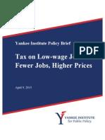 Tax on Low-Wage Jobs