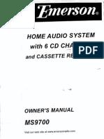 Emerson MS9700 CD Changer