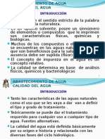 Abastecimiento de Agua, Características Del Agua
