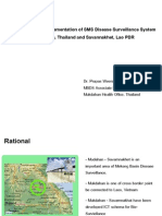 Development and Implementation of SMS Disease Surveillance System in Mukdahan, Thailand and Savannakhet, Lao PDR