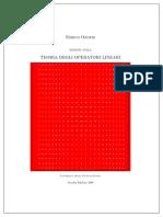 Teoria Degli Operatori Lineari E.onofri