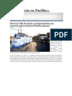 04-04-2015 PresenciaEnPuebla,Com,Mx - Moreno Valle Da Inicio a Pavimentación Con Concreto Para Carretera Puebla-Amozoc