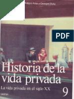Historia de La Vida Privada v9 p1 Antoine Prost