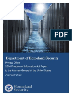 DHS Chief FOIA Officer Reports FY 2014