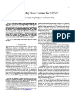 Low Delay Rate Control for HEVC