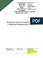 Protocolo Toma de Presión Arterial y Pesquisa Hipertensión Infantil