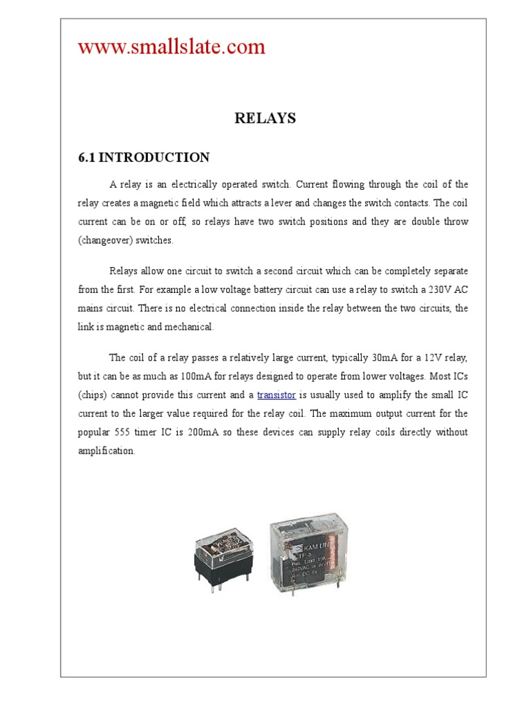 Relays Relay Switch Dc Driver Circuit Ic Uln2003