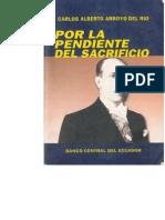 Portada --. Por La Pendiente Del Sacrificio --- Carlos Alberto Arroyo Del Rio