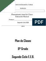Plan Anual Del 6to Grado 2015