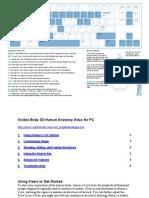 Visible Body 3D Human Anatomy Atlas Controls - Manual