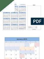 2015 Calendar With Event Planner v2