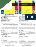 Bulletin for April 5 2015