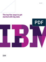 The Top Five Ways to Get Started With Big Data IBM