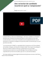 """Usuarios de Redes Se Burlan de Candidato Panista Que Presumió en Spot Su """"Preparación"""" en Harvard"""