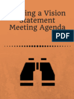 Writing a Vision Statement Meeting Agenda