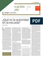 Qué Es La Autoridad en La Escuela. / UNIPE.