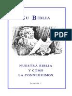 01 Nuestra Biblia y Como La Conseguimos