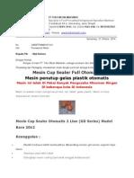 Penawaran Harga Mesin Cup Sealer Otomatis