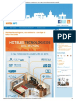 Hoteles tecnológicos