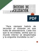 Ejercicios de Focalización 2015