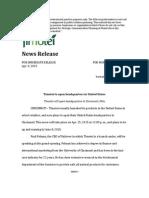 sample news release
